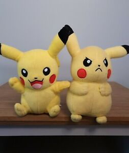 "Official Tomy PIKACHU 8"" Pokemon Plush  Soft Toy Bundle of  2 Dolls"