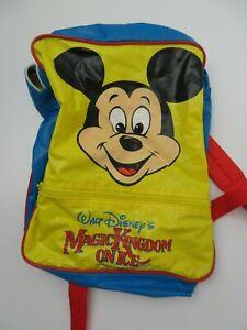 Vintage Disney Magic Kingdom on Ice Backpack Mickey Mouse Book Bag