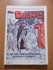 Epaminonda Provaglio FRA DIAVOLO Nerbini anni '20 illustraz. Toppi / Scagliarini
