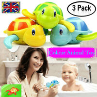 3x Wind-up Swimming Turtle Animal Toys Child Baby Kids Bath Time Clockwork Float