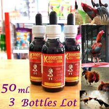3 x50 ml.K-Booster Vitamins Supplementary Food Chicken Healthy Rooster Thai Herb