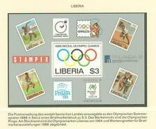 Olympic Games 1988 A59 Liberia s/s MNH Sport Philately
