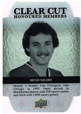 13-14 Upper Deck CLEAR CUT xx/100 Made! Denis SAVARD - Blackhawks