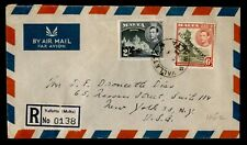 DR WHO 1954 MALTA VALLETTA REGISTERED AIRMAIL TO USA C228092