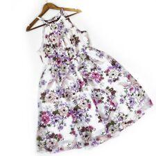 Torrid Ivory Floral Chiffon High Neck Skater Mini Dress 00 Medium Summer Spring