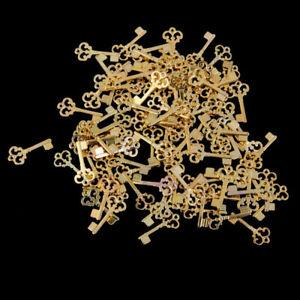 100PCS Durable Retro Lightweight Skeleton Keys for Decoration DIY Craft Keychain