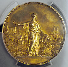 "1899, Nuremberg. Silver ""1st Int. Picture Postcards Exposition"" Medal.PCGS SP63!"
