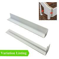 White UPVC Plastic Fascia Board Joints Round & Square Edge Profiles Menu Options