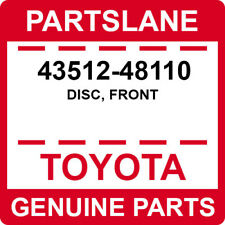 43512-48110 Toyota OEM Genuine DISC, FRONT