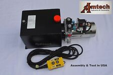 4215S Hydraulic Power Unit, Hyfraulic Pump,12V Double Acting,15Qt, Dump Trailer