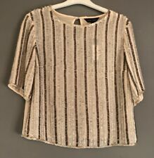 UK 8 NEW LOOK NUDE SEQUIN TOP PARTY/FESTIVAL/BOHO/IBIZA/SUMMER/CELEB/TOWIE NEW