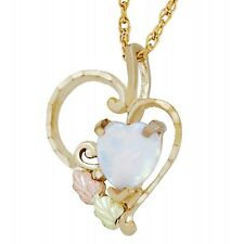 Heart Pendant with Opal Landstrom's® 10K Black Hills Gold