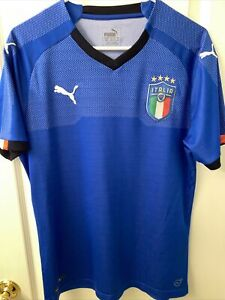 Italy Puma FIFA World Cup 2018 Authentic Italia Jersey Size M