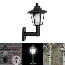 Solar Powered LED Light Path Way Wall-Mount Landscape Garden Fence Lamp Vintage