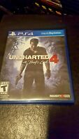 Uncharted 4 A Thief's End Sony PlayStation 4 2016 Complete PS4 Naughty Dog