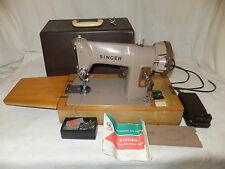 SINGER 185k Electric SEWING MACHINE Portable CASED Vintage PEDAL Instructions