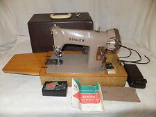 SINGER 185k macchina per cucire elettrica portatile con custodia vintage PEDALE istruzioni