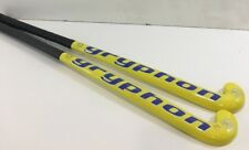 "Gryphon Cub Blade 32"" Indoor Field Hockey Stick Yellow 25mm Pair of two (2)"