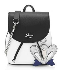 Guess Universidad Pop Mini Pin Up Crossbody Blanco Multi, Bolso Mujer