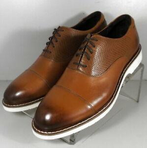 591632 FT50 Men's Shoes Size 10 M Tan Leather Lace Up Johnston Murphy