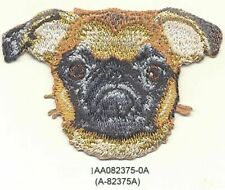 """2"""" x 3"""" Tan Brussels Griffon Dog Breed Portrait Embroidery Patch"""