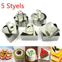 Stainless Steel Mousse Cake Ring Mold Cookie Cutter Mold Cake Pastry Baking Tool