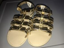 Gymboree girls metallic gold strappy sandals shoes size 2