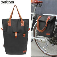 Tourbon Bike Pannier Tote Bag Travel Saddle Case Shoulder Pack Classical Cycling