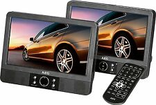 AEG DVD 4552 LCD DVD-Player mit 2 Monitoren USB SD Auto 2 x 9""