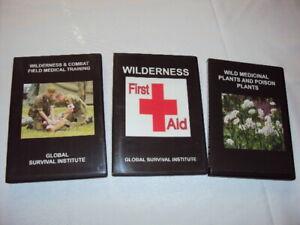 3  Lot Set WILDERNESS /URBAN /COMBAT EMERGENCY MEDICAL TRAINING DVD COLLECTION -