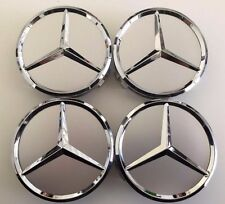 4 x 75mm Center Hubcap Hub Cap Caps MB Emblem Wheel Cover for Mercedes Benz AMG