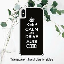 Keep Calm Unidad Audi Ventilador Coche Insignia Funda Cubierta para iPhone Samsung Huawei Google