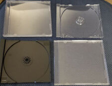Lot of 60 Standard CD Jewel Cases with Trays - 50 + 10 Extra = 60