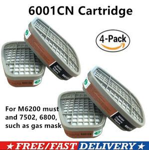 4X 6001CN Organic Vapor Cartridge For M6200 7502 6800 Series Gas Mask UK