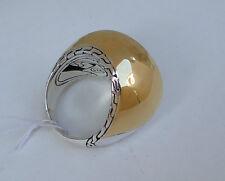 NEW $695 John Hardy Palu 22K Gold Silver Bold Ring Size 7 13grams