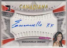 2011 CANADIANA BETWEEN THE SEAMS AUTO: EMMANUELLE CHRIQUI #1/1 AUTOGRAPH SWATCH