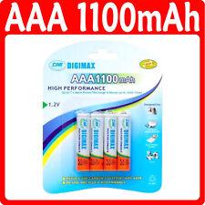 4 X Aaa 1100 Mah Recargable Baterías LR03 1.2 v