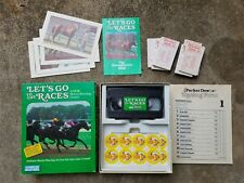 Let's Go to the Races A Vcr Horse Racing Game ~ Parker Brothers ~ Vintage