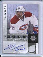 2011-12 Upper Deck P.K. SUBBAN Autograph Ultimate Signatures Hockey Auto