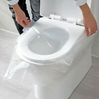 30PCS Universal Toilet Disposable Clear Sticker Toilet Seat Cover Travel Stool