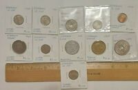 11 LOT MIXED DENMARK COINS WORLD FOREIGN ESTATE 1924 1941 1947 & MORE