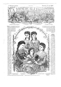 MODE ILLUSTREE SEWING PATTERN April 17 1870 - Costumes, Layette