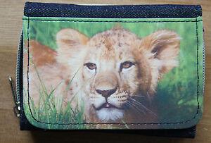 Denim Purse with photo print of Lion, Tiger, Jaguar, Snow Leopard, Giraffe, Wolf