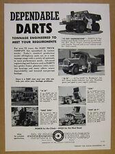 1958 DART Trucks 10 15 25 35 50 Ton Off-Road Dump Truck photos vintage print Ad