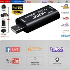 HDMI to USB 2.0 Video Capture Card HD 1080P Recorder Game/Video Live Streaming