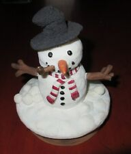 Jar Candle SNOWMAN Candle Topper