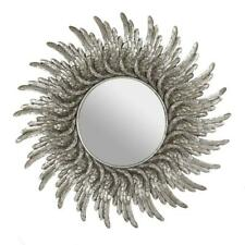 48cm Silver Effect Round Angels Wings Ornate Pretty Wall Hanging Mirror