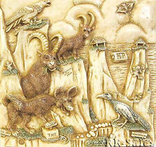 Cliff Hangers Coyote Harmony Kingdom Noahs Park Picturesque Tile Ann Richmond