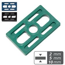 2 | 5 | 10 mm Unterlegplatten Montageklötze 50x80mm 10-500 Stk Kunststoff