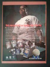 1993 Frank Thomas~Ryne Sandberg Leaf Baseball Card Sports Oddball Promo Trade Ad